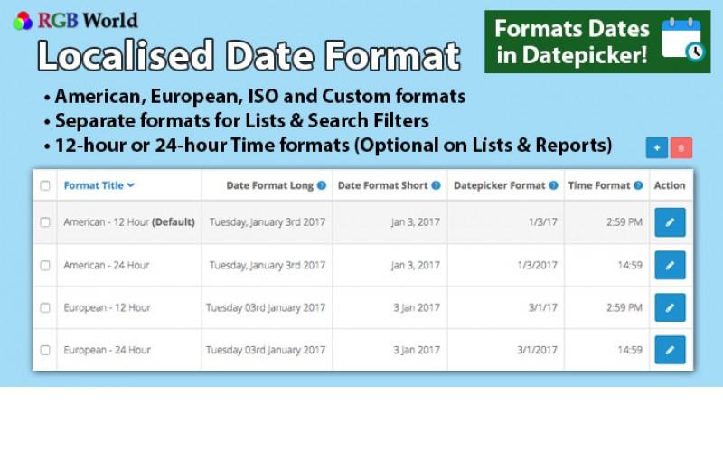Format date